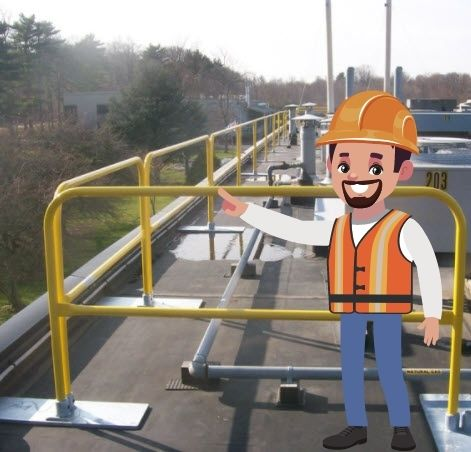 Guardrails on the rooftop